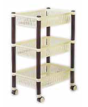 square trolley 3 tier