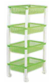square trolley 4 tier